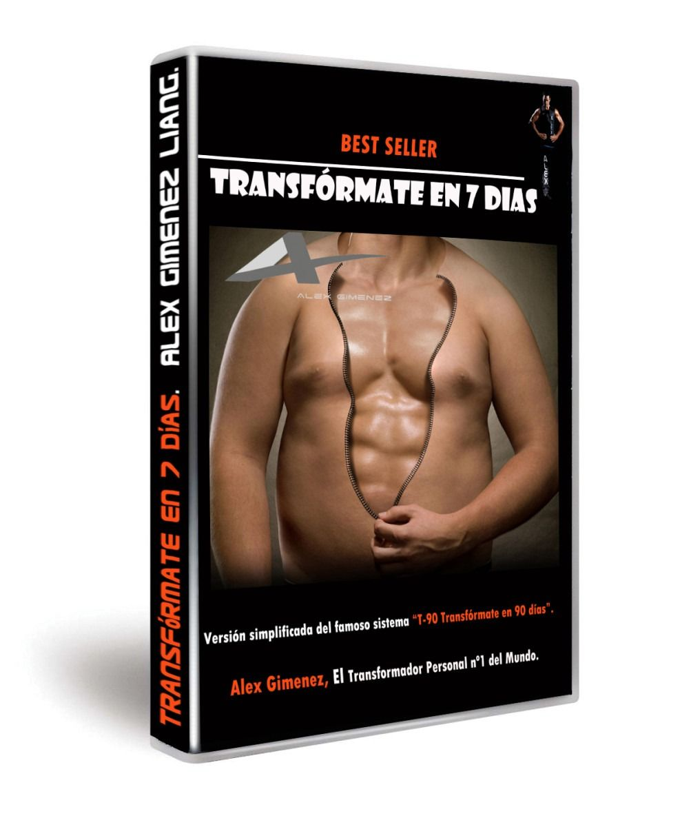 LIBRO TRANSFORMATE EN 7 DIAS, entrenador personal,entrenador personal valencia, biotraje,TRANSFORMADOR PERSONAL,